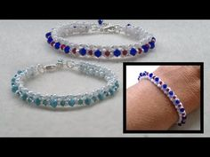 beading4perfectionists : Stitch nr. 1 : Single row Right Angle Weave (RAW) bracelet - YouTube
