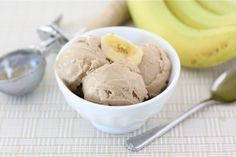 2 ingredient Banana Peanut Butter Ice Cream