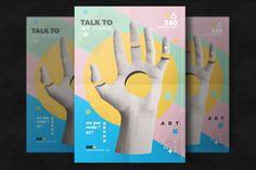 Creative Surreal Flyer Template by EightonesixStudios on Envato Elements Hand Art, Print Templates, Flyer Template, Flyer Design, Surrealism, 3 D, Retro Vintage, Dinosaur Stuffed Animal, Banner