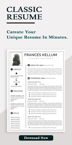 Resume Template, CV Template, Modern Resume Template, Professional Resume Template