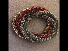 Interlace Bangle - A Bronzepony Beaded Jewelry Design, My Crafts and DIY Projects