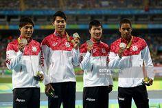Silver medalists Ryota Yamagata, Iizuka Shota, Yoshihide Kiryu and Aska…