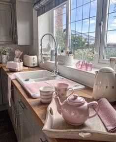 Dream House Interior, Dream Home Design, Home Interior Design, House Design, Shabby Chic Interiors, Shabby Chic Homes, Shabby Chic Kitchen, Kitchen Decor, Parisian Decor