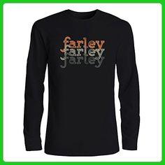 Idakoos - Farley repeat retro - Male Names - Long Sleeve T-Shirt - Retro shirts (*Amazon Partner-Link)