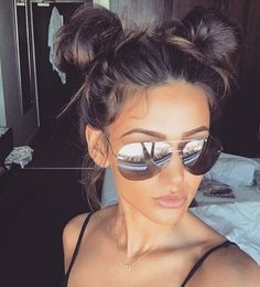Phenomenal Double Buns Buns And Space Buns On Pinterest Hairstyles For Women Draintrainus