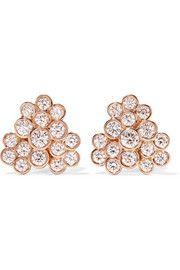 Glamazon® Stardust 18-karat rose gold diamond earrings - Ippolita