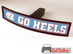 North Carolina Go Heels Trailer Hitch Cover Illuminated NCAA Officially Licensed by tailtalker on Etsy