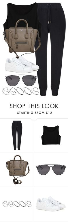 """Style #9971"" by vany-alvarado ❤ liked on Polyvore featuring Whistles, CÉLINE, Christian Dior, ASOS and adidas"