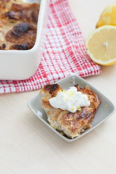 Five-Ingredient Lemon Bread Pudding – Made with Croissants!