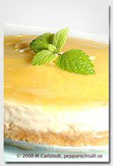 Cheesecake med citron - Cheesecake UTAN ägg