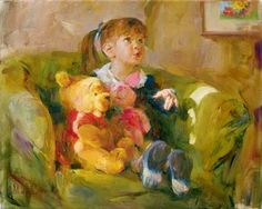 Disney Fine Art - Telling Stories. Winnie the Pooh. Biggs Ltd. Gallery. Heirloom quality bridal, art, baby gifts and home decor. 1-800-362-0677. $850.
