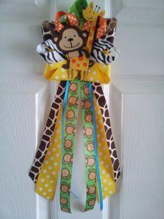 JUNGLE theme Monkey and Giraffe door decoration.