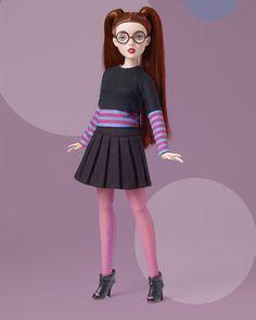 """2020-k-20 Tonner 16/""""Tyler Flat feet doll Shoes"""