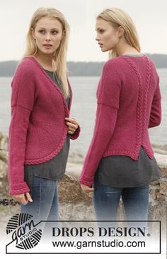 Take on this challenge! Great jacket with short rows and #cables. #knit