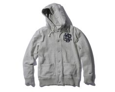 F.C.R.B. SWEAT HOODED CARDIGAN