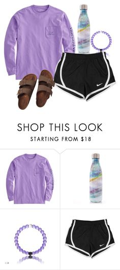 """""""cute"""" by ellienoonan ❤ liked on Polyvore featuring S'well, NIKE and Birkenstock"""