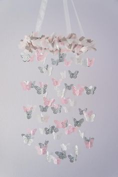 butterfly pink and gray nursery - Bing Images