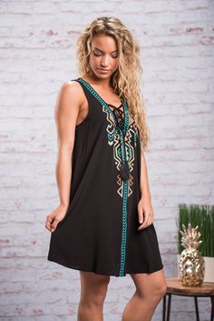 """""""Your Lucky Day Dress, Black"""""""