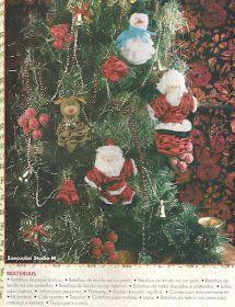Enfeites de Natal de fuxico, papi noel de fuxico, mamãe Noel de fuxico,   boneco de neve de fuxico, rena de fuxico, tudo para deixar su...