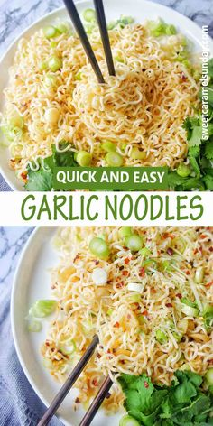 Quick easy spicy garlic noodles with chilli are out of this world insanely delicious! And they won't break the bank as they are SUPER CHEAP to make. Fragrant from a combo and peanut and season oil these fuss free any night of the week meals will tick ALL of your boxes!! #noodlerecipes #noodles #asianrecipes #cheapdinnerrecipes #garlicnoodles @sweetcaramelsunday