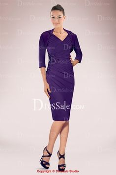 Elegant Knee-length Satin Mother of Bride Dress Featuring Intricate Pleats and Beads