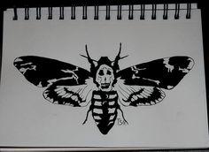 Next tattoo I think. On the backs of my legs like where girls put ribbons. oh yeaaaaa Dream Tattoos, Cute Tattoos, Body Art Tattoos, Death Moth Tattoo, Lamb Tattoo, Moth Drawing, Minimal Tattoo Design, Esoteric Art, Get A Tattoo