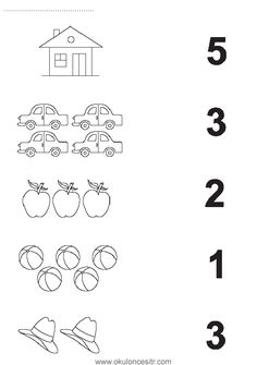 Number matching worksheet cards and preschool kindergarten . - Szilvia Szabó - Welcome to Pin World Preschool Writing, Numbers Preschool, Preschool Learning Activities, Preschool Curriculum, Teaching Numbers, Printable Preschool Worksheets, Kindergarten Math Worksheets, Preschool Kindergarten, Math Literacy
