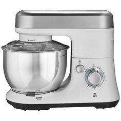 Lakeland Let's Bake Stand Mixer - Silver & White - Uk Appliances Direct Stainless Steel Bowl, Stand Mixer, How To Make Light, Small Kitchen Appliances, Rice Cooker, Nespresso, Let It Be, Baking, Mixers
