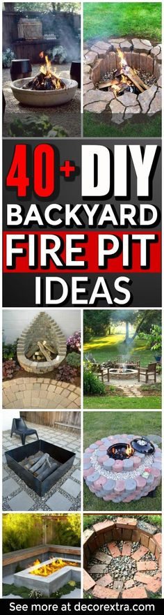 DIY Backyard Fire pit ideas and Fireplace projects - Do It Yourself Fire Pit Idaes and Fireplaces for Your Backayrd. Outdoor Fire Pit - Step by Step Tutorials With Instructions