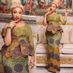 Exotic Ankara Gown Styles In Nigeria Rocking ankara gown designs in one thing, it's absolutely a different thing to rock exotic anka. African Lace Dresses, Latest African Fashion Dresses, African Dresses For Women, African Print Fashion, Africa Fashion, African Attire, African Wear, Ankara Fashion, Ankara Skirt And Blouse