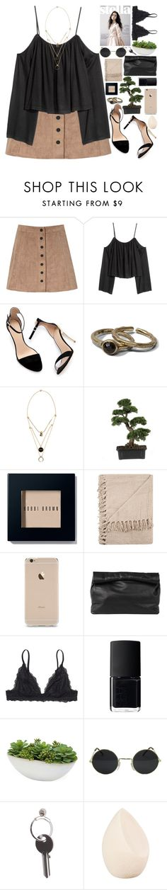 """.."" by imthinkinginyou on Polyvore featuring moda, Glamorous, Zara, Abercrombie & Fitch, Maison Margiela, Nearly Natural, Bobbi Brown Cosmetics, Marie Turnor, Monki y NARS Cosmetics"