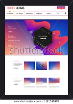 Colorful modern web page design for website and mobile website development. Easy to edit and customize. Page Design, Colorful, Website, Easy, Modern, Image