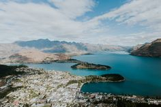https://flic.kr/p/Bq3rEd | Queenstown, NZ III | This view down on Queenstown and the Lake Wakatipu... unique.  More: www.sandbox-photos.com/archives/8932