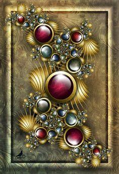 """""""Renaissance Jewels"""" by Coby. [Fractal Art]"""