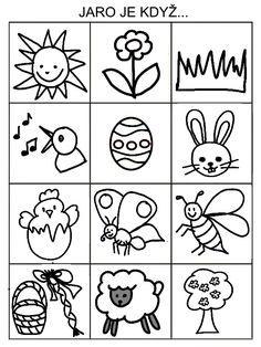 Pro Šíšu: Jarní pexeso Drawing Tutorials For Kids, Drawing For Kids, Easter Activities For Kids, Crafts For Kids, Worksheets For Kids, Baby Play, Paper Toys, Spring Crafts, Easter Crafts