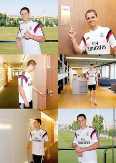 #Chicharito visita la Ciudad Real Madrid