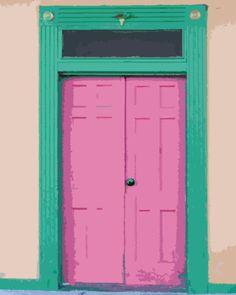 Pink Doors In Locke Photograph