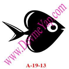 Balık Simgesi Geçici Dövme Şablon Örneği Model No:A-19-13