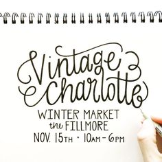 Finishing up a promo for the @vtgclt winter market. I had so much fun at the summer market and am pumped to have a booth again. Put it on your calendars to come out and snag some awesome #CLT #handmade goods. #vtgclt #hennelpaperco #handlettering #handtype #type #illustration #sketchbook #drawing #art #design #thedesigntip #charlotte #northcarolina