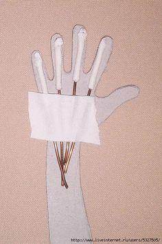 Мобильный LiveInternet Изготовление рук на проволочном каркасе. | Afina777 - Дневник Afina777 |