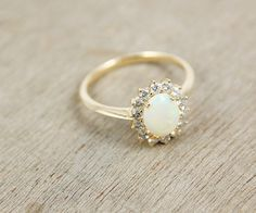 Opt for an antique opal ring for your engagement.
