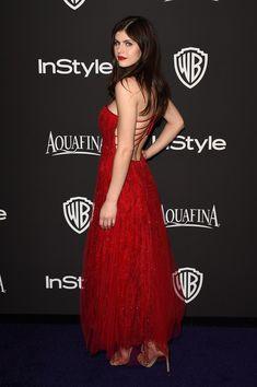 Alexandra Daddario Photos - InStyle And Warner Bros. Golden Globes Party — Part 2 - Zimbio