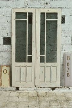 Door B078 112.5cm×183cmアンティーク建具ダブルドア観音開き扉 インテリア 雑貨 家具 Antique ¥46000yen 〆06月26日
