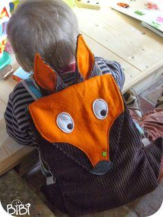 Les p'tites bricoles de BiBi: Pour Lucien sac à dos renard