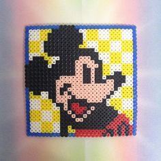 Mickey Mouse perler beads by  _perlercreations_