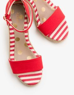 Candy stripe wedges  July4th Sexy Heels 6ebcb3f4d2d6