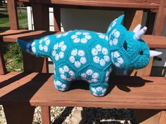 A personal favorite from my Etsy shop https://www.etsy.com/listing/281450844/african-flower-dinosaur-triceratops