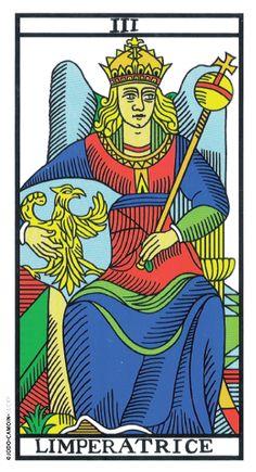 The Empress Tarot de Marseille rebuilt by Camoin and Jodorowsky Le Tarot, Daily Tarot Reading, Tarot Major Arcana, Tarot Card Meanings, The Empress, Oracle Cards, Tarot Decks, Temperance Tarot, Jungian Archetypes