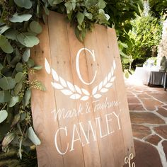 Personalized welcome sign by Boone Creek Loft on Etsy @emk