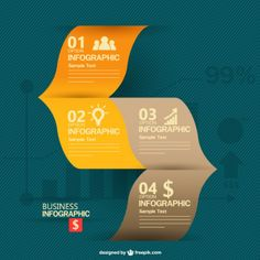 Free business information graphics design Free Vector